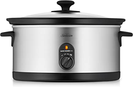 Sunbeam 5.5L Slow Cooker, Stainless Steel