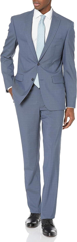 DKNY Men's All Wool Slim Fit Suit