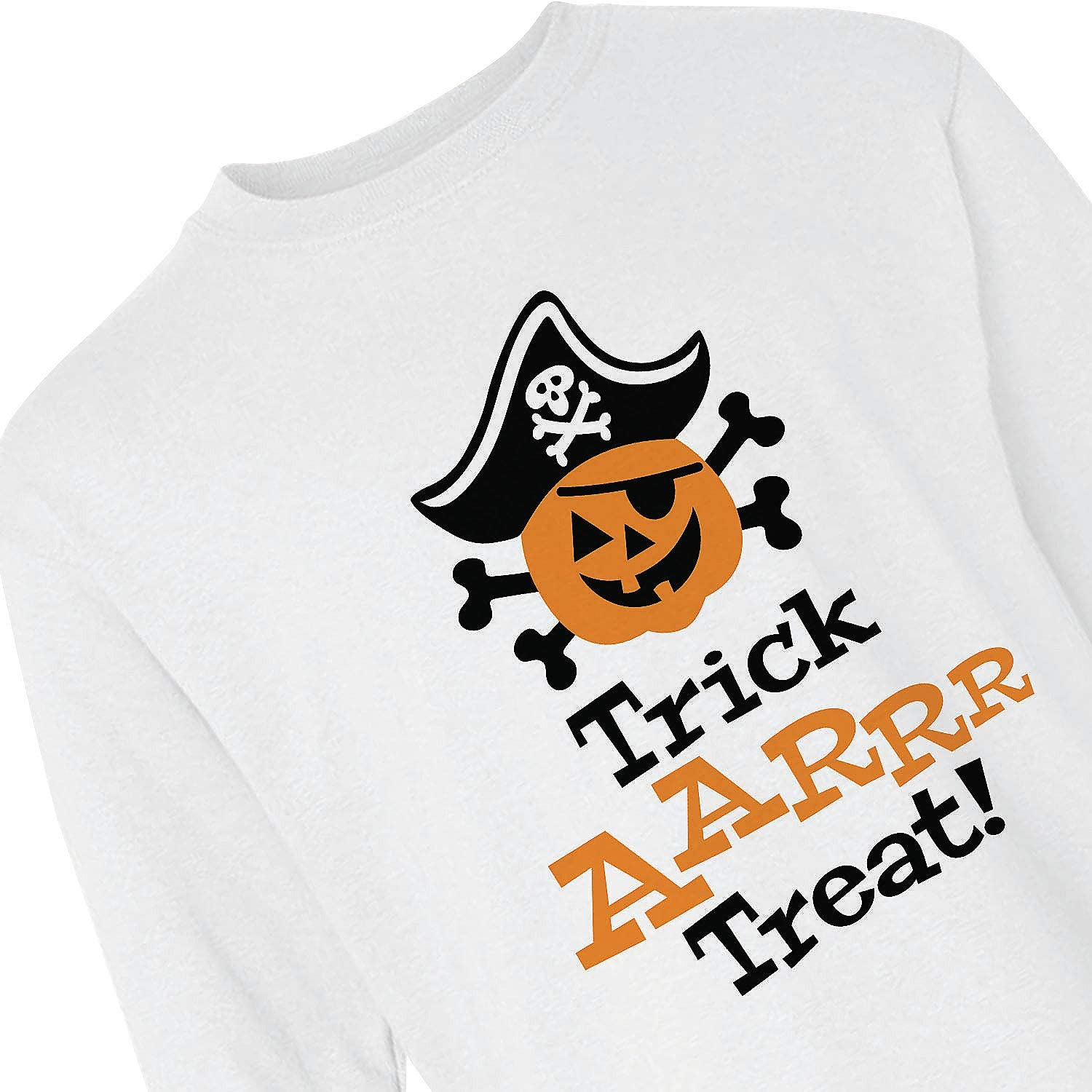 Trick-or-Treat Youth Long Sleeve T-Shirt - Large - Apparel Accessories - 1 Piece
