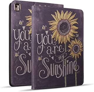 iPad 9.7 2018/2017 Case, iPad Air 2, iPad Air, Pro 9.7 Case, Protective Leather Case, Adjustable Stand Auto Wake/Sleep Smart Case for ipad 6th/5th Gen - Sunflower, You are My Sunshine