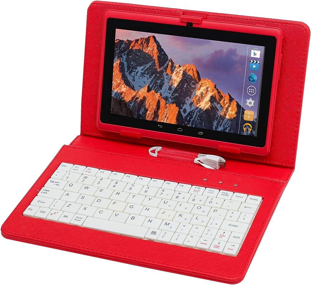 Tablet pc 7 pollici,computer portatile, quad core con tastiera e penna,ram da 512mb piu` 8gb