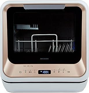Mini lave-vaisselle MEDION (lave-vaisselle de table, 2 couverts, fonctionne avec/sans raccordement à l'eau, 6 programmes d...
