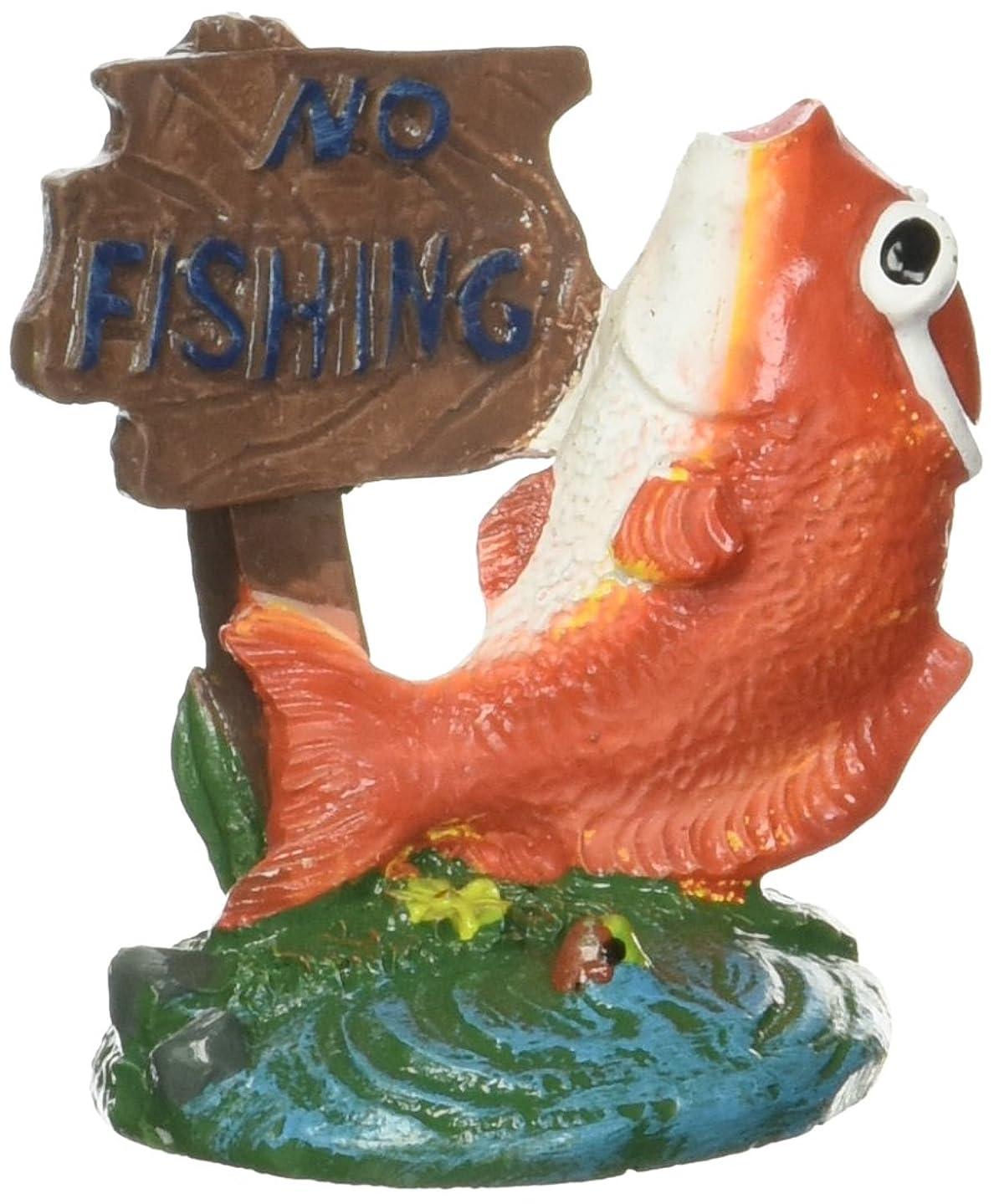 Penn Plax No Fishing Mini Fish Aquarium Ornament