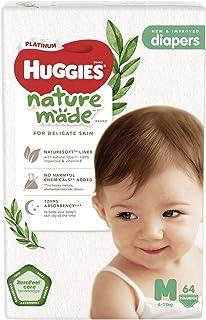 Huggies Platinum Naturemade Tape Diapers M 64s