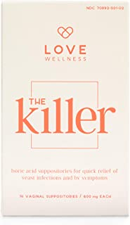 Love Wellness The Killer - Boric Acid for Yeast Infection & BV Treatment