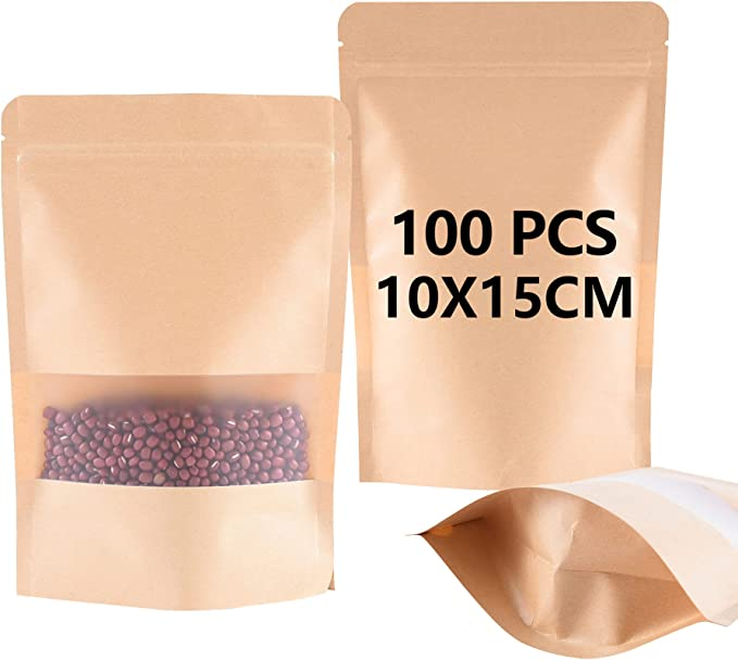 192 opinioni per Buste Carta Alimenti(10 * 15 * 3.5cm), 100Pcs Sacchetto Carta Kraft, BaoWnylz