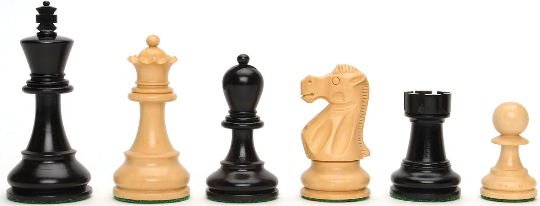 Black Stained Kari Wood Staunton Chessmen