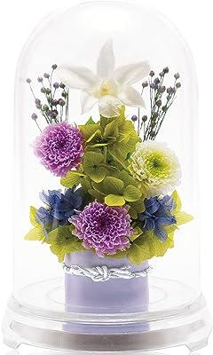 liLYS épice プリザーブドフラワー 仏花 仏壇用 お供え花 日本製 パープル 雅び 単品 bp1pr