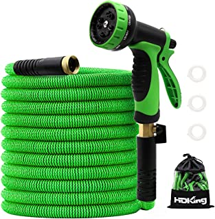 """100FT Garden Hose Expandable, Water Collapsible Hose with 10 Function Spray Nozzle, Triple Latex Core, 3/4"""" Solid Brass Co..."""