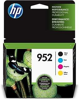 HP 952 Black, Cyan, Magenta & Yellow Ink Cartridges, 4 Cartridges (F6U15AN, L0S49AN, L0S52AN,L0S55AN) (Renewed)