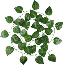 Hecaty 12 Strands 90 ft Artificial Apple Leaf Vines, Large Leaves Garland Hanging Plant for Wedding Party Store Home Decor Indoor Outdoors (90 ft Apple Leaf)