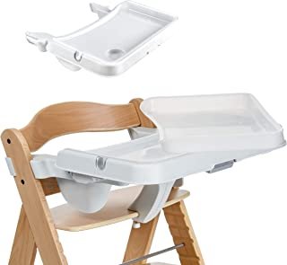Hauck Alpha Tray, 3-in-1 Table Set for Hauck Wooden Highchairs Alpha+, Beta+, Depth Adjustable Table, Removable Tray, Cup ...