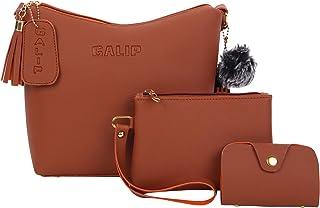 GALIP Women Grey Women Sling Bag (Pack Of 3)
