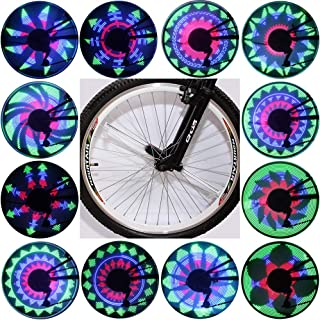 QANGEL Bicycle Spoke Light Waterproof 36 LED Lights Display Bright 32 Patterns Full Bike Wheel Change