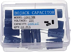 BOJACK 10X17mm 1000uF 25V 1000MFD 25Voltage ±20% Aluminum Electrolytic Capacitors(Pack of 10 Pcs)
