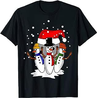 BOWLING PINS BALL SANTA HAT Christmas Funny Gifts Women Men T-Shirt