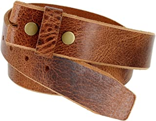 Genuine One Piece Full Grain Vintage Buffalo Leather Belt Strap