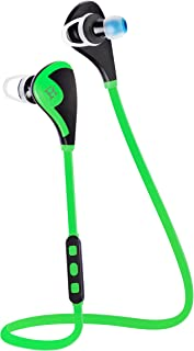 Bluetooth Headphones V4.1 EDR Wireless Sport Headset with Sweat Proof Earbuds, Noise Cancelling, APT-X/Mic Ideal for Running/Gym/Workout (Green)
