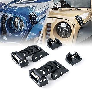 Xprite Aluminum Hood Latches Catch Kit for 2007-2018 Jeep Wrangler JK JKU & 2018-2020 Jeep Wrangler JL JLU - Pair