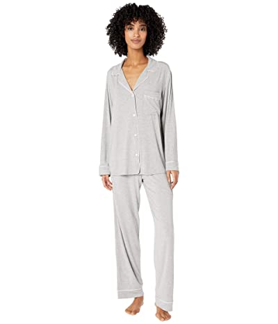 Eberjey Gisele Basics PJ Set (Heather Grey/Bellini) Women