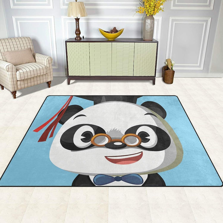 FAJRO Smile Panda with Doctor Hat Rugs for entryway Doormat Area Rug Multipattern Door Mat shoes Scraper Home Dec Anti-Slip Indoor Outdoor