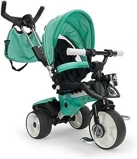INJUSA- Triciclo City MAX Evolutivo Color Verde, 21 x 10 x 5