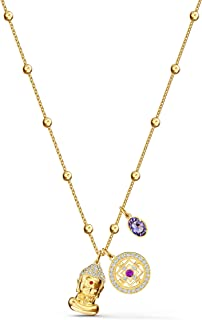 Swarovski Women's Symbolic Pendant Buddha Necklace, Gold-tone Plated Tone with Rhodium Metal, from the Amazon Exclusive Sw...