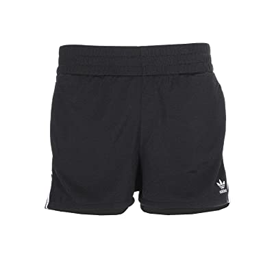 adidas Originals adiColor 3-Stripes Shorts (Black/White) Women