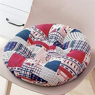 Cojines para Silla Silla de jardín redonda Cojines Espesar silla de ratón de cocina Sillas de los cojines del asiento de algodón y lino for comer Sillas Conjunto de 2 suaves cojines de los asientos an