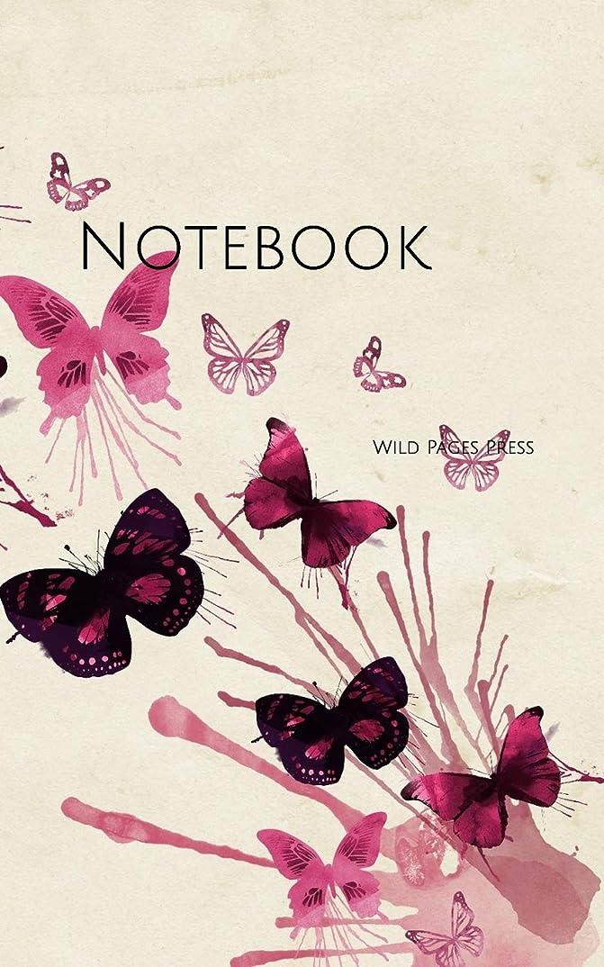 週末マラウイキリマンジャロNotebook: Design Butterflies Pink watercolor butterfly pretty girl girls girlfriend color beautiful cheerful