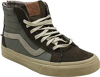 Vans Sk8-Hi Zip Sneakers (Leather/Nubuck/Suede) Brown Womens 6.5