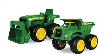 John Deere Sandbox Vehicle 2 Pack | Truck and Tractor Toy | Indoor and Outdoor Play..