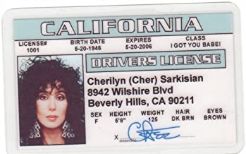 Best Cher Novelty Drivers License / Fake I.d. Identification for Silkwood and Mermaids fans Review