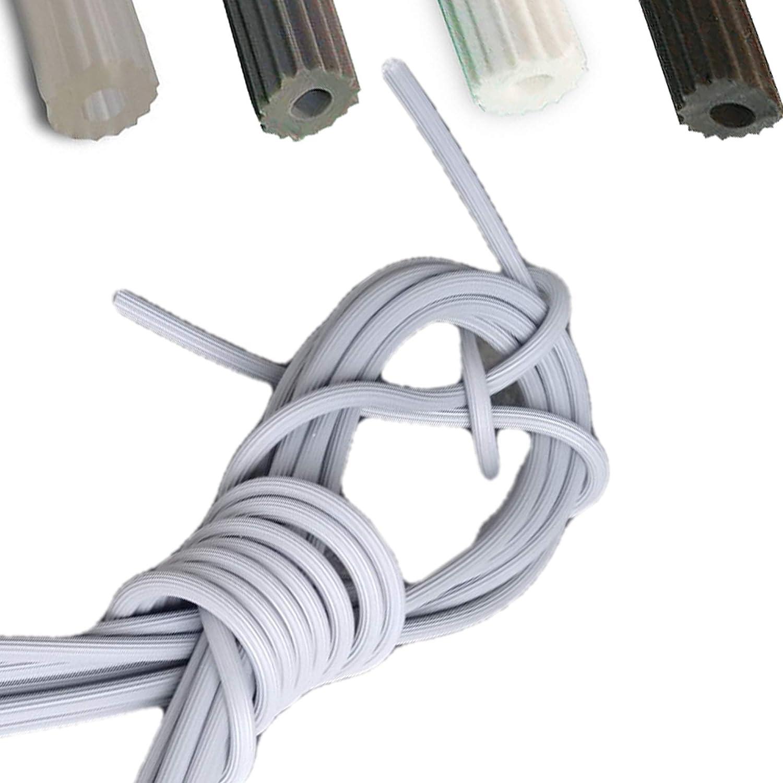 5m-S-5,5 0,90/€//m Meterware Keder Gummischnur 5,5mm f/ür Fliegengitter in schwarz aus Kunststoff PVC rund f/ür Spannrahmen als Kedergummi Kederschnur Schnur Ersatzteil Zubeh/ör