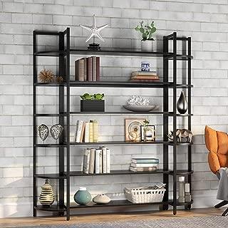 Tribesigns Modern Triple Wide 6-Shelf Bookshelves, 6-Tier Large Etagere Bookcase Bookshelves...