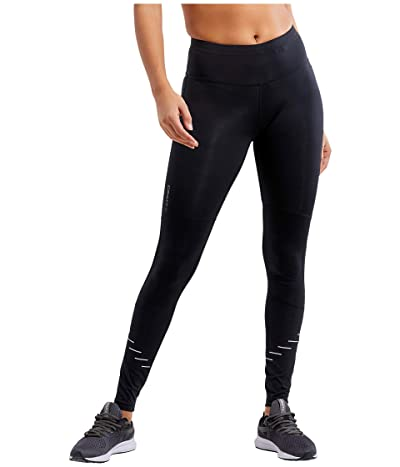 Craft Lumen Urban Run Tights (Black/Silver) Women