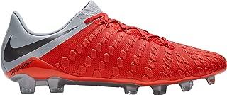 Hypervenom Phantom III Elite FG Soccer Cleats (Red/Grey, M11W125)