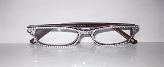 Jimmy Crystal of Ny Reading Glasses with Sparkling Swarovski Elements (2.00, Clear)