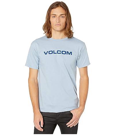 Volcom Crisp Euro Short Sleeve Basic Tee (Flight Blue) Men