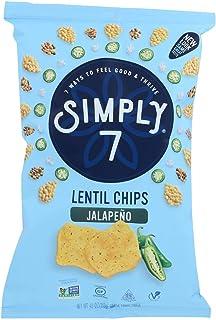Simply 7 Jalapeno Lentil Chips, 4 Ounce - 12 per case.