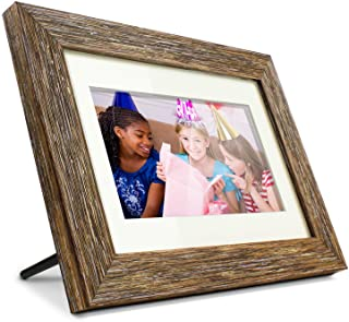 "Aluratek 7"" Distressed Wood Digital Photo Frame with Auto Slideshow Feature, 800 x 600 (ADPFD07F)"