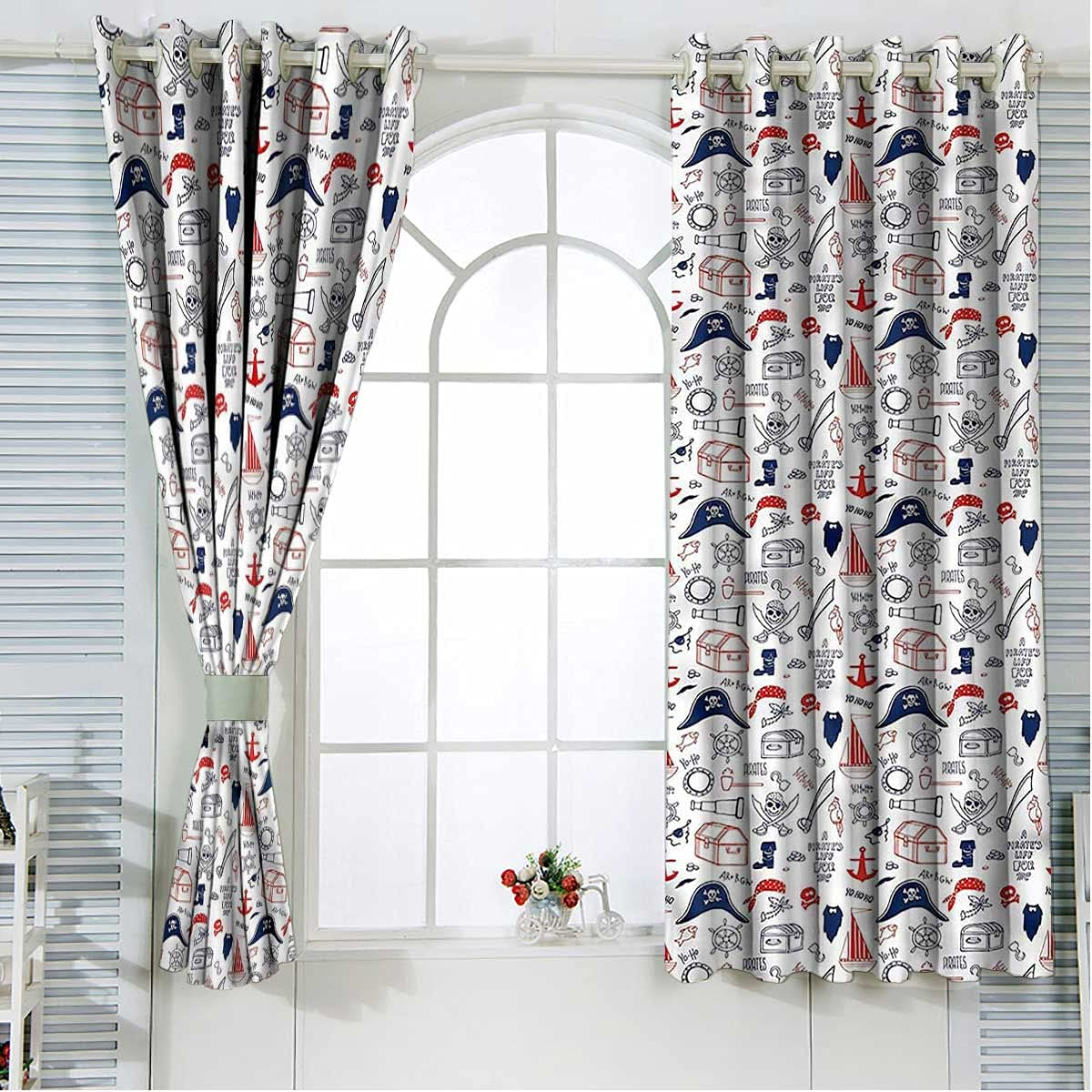 Ranking TOP10 Pirates Curtains for Patio Doors 108 Hand 5 ☆ popular Inch Length Drawn Sail