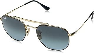 RB3648 The Marshal Square Sunglasses, Havana/Blue Gradient, 54 mm