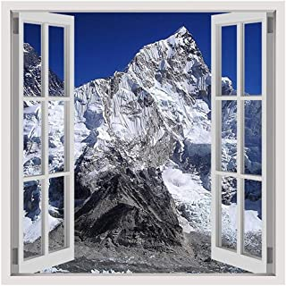 Alonline Art - Mount Everest by Fake 3D Window   print on canvas   Ready to frame (synthetic, Rolled)   12