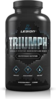 Legion Triumph Daily Sport Multivitamin Supplement - Vitamins and Minerals for Athletes Helps w/Mood, Stress, Immune Syste...