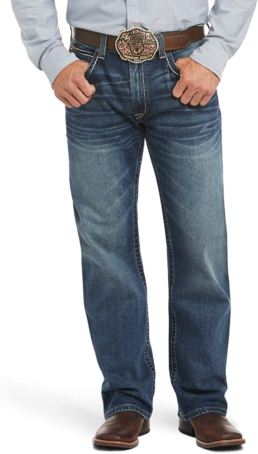 trend rank Ariat M4 Low Rise Boot Cut Denim Relaxed Jeans Outlet SALE – Men's Fit