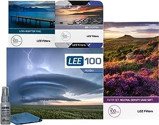 LEE Filters LEE100 82mm Landscape Starter Kit 1 - LEE Filters LEE100 Filter Holder, LEE 100mm Soft Edge Graduated ND Filter Set, LEE 100mm Big Stopper and 77mm Wide Angle Adapter Ring