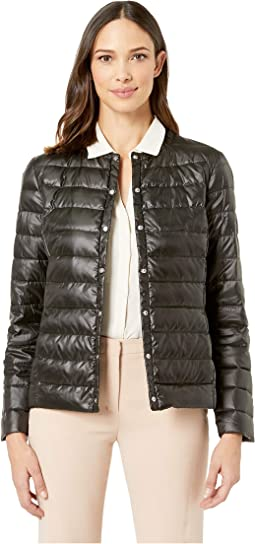 Soft Puff Collarless Jacket