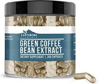 Green Coffee Bean Extract, 200 Capsules, 840 mg Servings, Non-Stimulant, Lab-Tested & Gluten-Free, Pure, Non-GMO, No Addit...