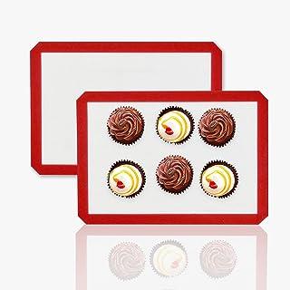 N/U Tapis de Four et Cuisson en Silicone-Conçu pour Faire Pain/Macarons/Biscuits/Tartes sans BPA Anti-Adhérent Toile Feuil...